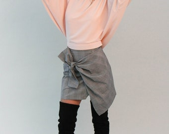 Tie-Back Kimono Sleeve Top