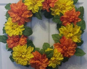 Spring wreath / summer wreath / front door wreath / holiday wreath / door wreath / flower wreath