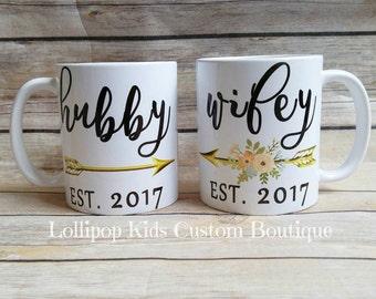 Hubby & Wifey 11oz Coffee Mugs