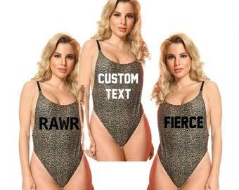 Leopard Swimsuit - Cheetah Swimsuit - Leopard Print Swimwear - Leopard Swimwear -  Animal Print Swimwear -Leopard One Piece-Leopard Bodysuit