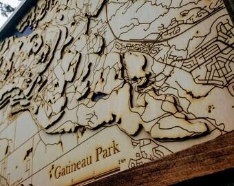 "Gatineau Park Map - 17""x23"""