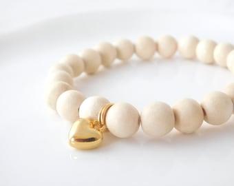 bracelet *winterheart* champaigne/gold