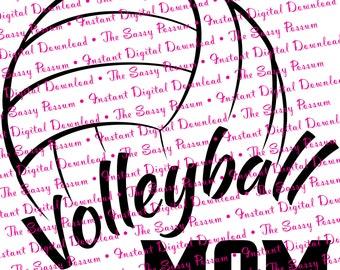 Volleyball Iron On Etsy