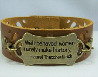 B188, Leather Cuff Bracelet