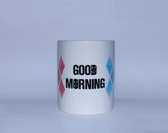 Good morning coffee cup suicide squad Harley Quinn diamond