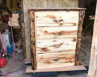 Aspen 4 drawer live edge dresser