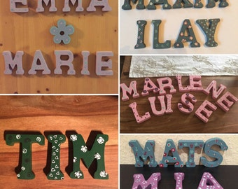 HolzKaspero wooden letters: name of wood