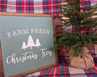 Farm Fresh Christmas Trees | Christmas Sign | Wood Sign
