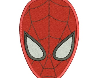 Spiderman Embroidery Design Filled Stitch 3 sizes Instant Download