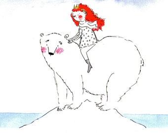 """Fine Art Print """"Polar Bear"""" 20x30"""