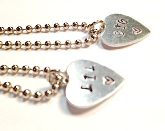sister necklaces, big little sorority, sorority sister necklaces, hand stamped necklaces, big sister, little sister, rush gifts, Greek life