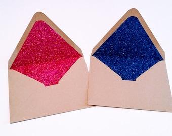 glitter lined envelopes (pack of 10)
