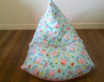 Kids bean bag cover - Peppa Pig