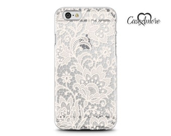 iPhone 7 case clear, iPhone 6s case, Rubber case, iPhone cases, iPhone 6 case, iPhone 7 Plus case, Galaxy case, Galaxy S8 case, Floral Lace