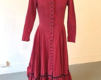 Betsey Johnson Alley Cat 70s prairie dress