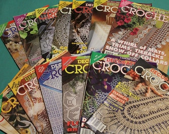 Decorative Crochet Magazines~ Back Issues~ Vintage ~ Thread Crochet Patterns ~ Doilies ~ Tablecloths ~ Bedspreads ~ Mats ~Highly Collectible