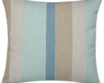 Sunbrella Gateway Mist Indoor/Outdoor Striped Pillow