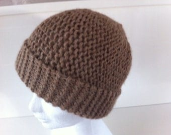 Light brown Alpaca Beanie