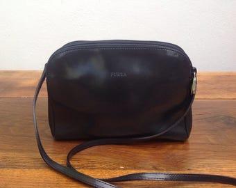 PurseTracolla Furla| Vintage purse| leather Bag | Navy leather Bag | Furla Vintage | Borsa Furla | tracolla vintage | Made in Italy Bag