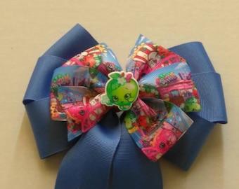 Shopkins (inspired) hair bow, big shopkins bow, birthday hair bow