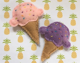 Ice Cream Cone with Sprinkles Cat Toy with Catnip and Jingle Bell