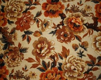 Orange Floral Vintage Upholstery