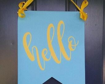 Hello Door Banner