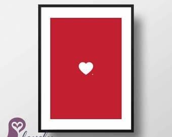 Love Poster   Heart   Wall Art   Wall Decor   Home Decor   Prints   Poster   Digital Paper   Digital Download