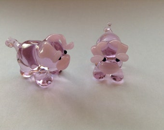 Pig Glass Figurine