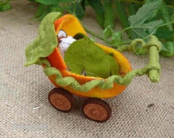 Foxy Fox and his Pumpkin Pram - PDF pattern - dowload