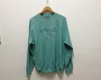 Vintage KENZO JEANS 1990s fashion designer indie hipster sweater