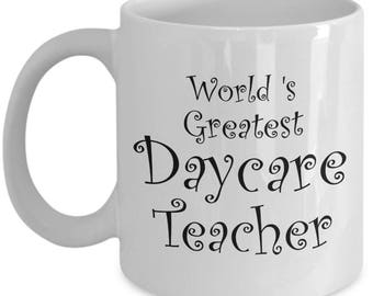 Daycare Teacher Gifts Mug Men Women - Gift for Retired Daycare Teachers - Teacher Appreciation Coffee Mug - End of Year Gift Idea, Christmas