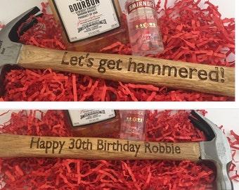 Novelty Engraved Hammer - Let's Get Hammered!
