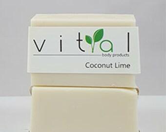 Shampoo Bar - Coconut Lime - 135 Gram Bar - All Natural THREE PACK