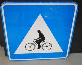Panel signalistion cyclist industrial vintage Antique