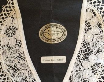 Vintage old Nottingham napery cotton lace collar