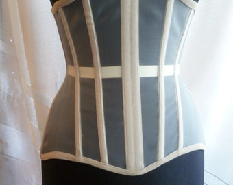 Corset beige color of the grid