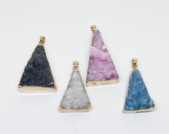 Triangle Druzy Pendant