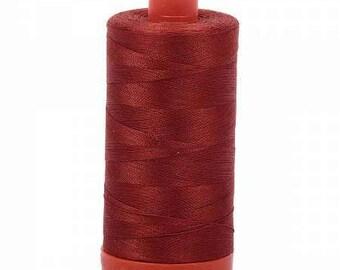 Aurifil Mako Cotton Thread Solid 50wt 1422yds Terracotta 1050-2385