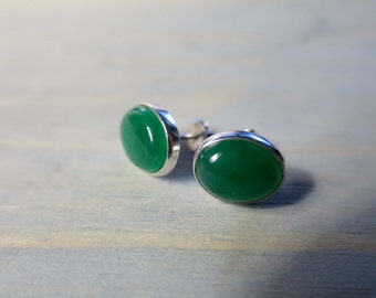 Dyed Quartz studs in Sterling Silver