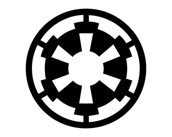 Star Wars Imperial Logo Vinyl Stencil from SQBArmory on ...