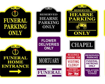 1:87 HO scale model funeral home signs