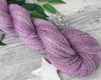 "Handspun Yarn - ""Hydrangea II"" (lace) - bfl/bamboo - hand dyed - 585yds/3,63oz - 2ply"