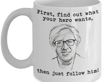 Writing Inspiration Mugs - First, Find Out What Your Hero Wants - Ideal Writer Gifts