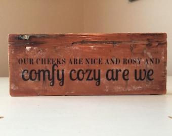 Comfy Cozy Wood Sign