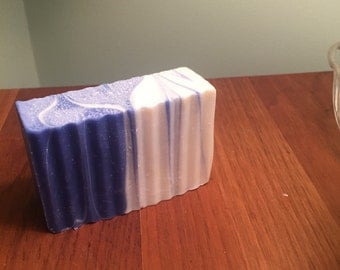 Wicked Clean Soap! Blue and White Swirl