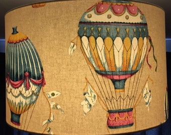 Around the world in eighty days hot air balloon lamp shade.