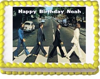 Beatles Abbey Road Edible Cake Cupcake Cookie Topper