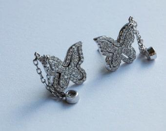 Pretty butterfly Earrings - Sterling Silver