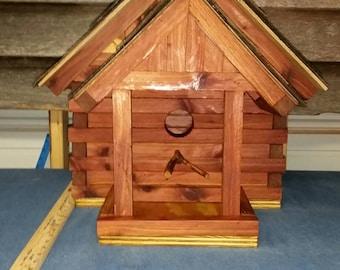 Bird house cedar large